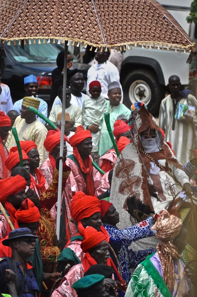 Sarkin or Emir Alhaji Abdulmumini Kabir Usman leading the Durbar